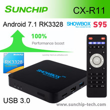Play store App free download Android 7.1 TV Box x96 1g 8g RK3328 Quad-core android smart Tv Box R11