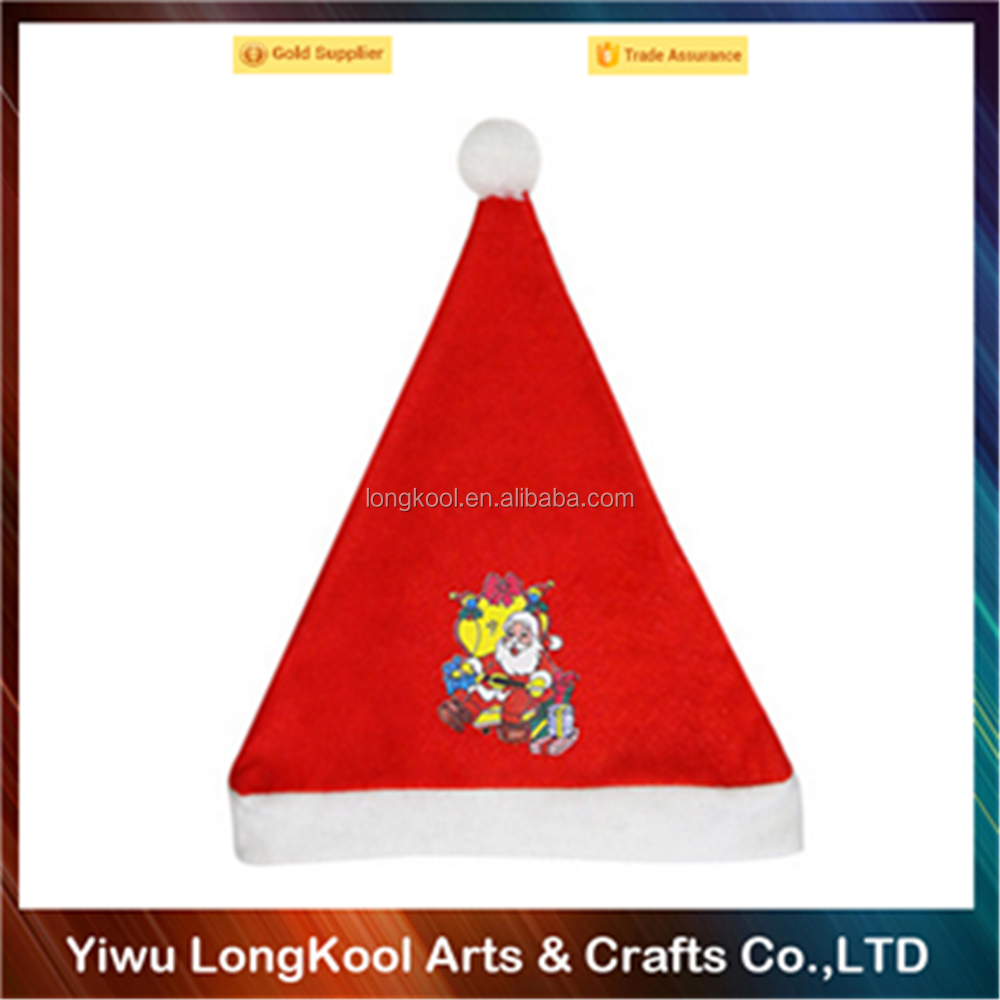 High quality christmas santa hat 2016 most popular christmas hat for baby