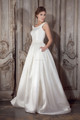J117A boat neckline simple satin bridal wedding dresses vestidos de novia 2016