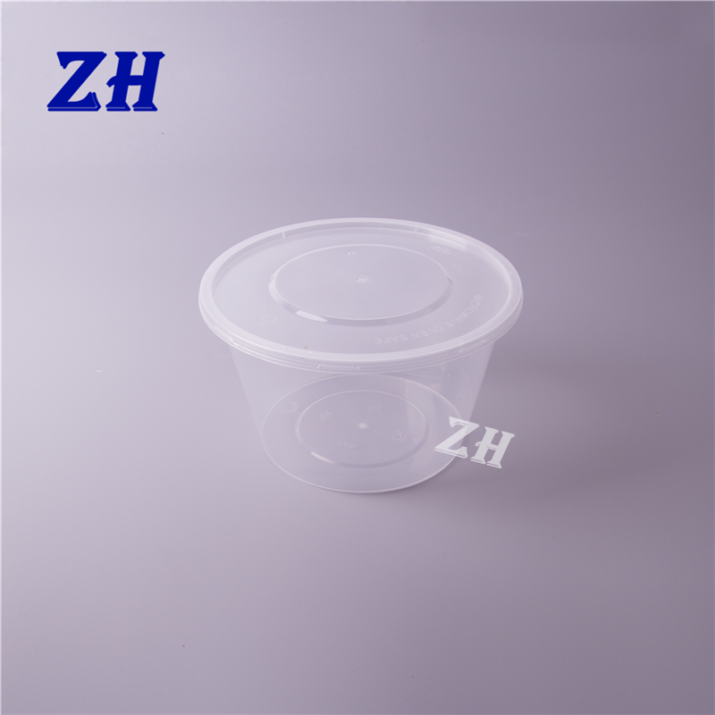 custom design clear plastic soup delivery bowl set