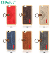 TPU Mobile Phones retro PU leather design with key ring back case cover for iPhone 6S