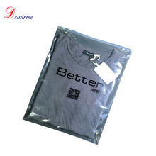 Transparent plastic bags garment bags PE clothing zipper bag