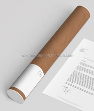 kraft paper poster mailing tube paper box packaging for shipping