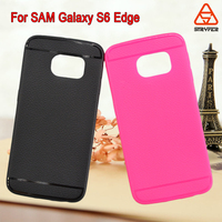 TPU caes for Samsung galaxy s6 edge litchi case ,rich color ultra-thin tpu case for samsung galaxy s6 edge cover