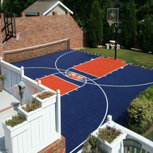 Easy to install diy basketball court pickleball court for Basketball court at home