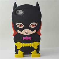 3D black batman case for iphone 4 sublimation case soft silicone case for iphone 5