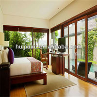 luxury villa heavy duty aluminum sliding glass door with blinds