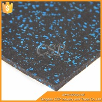 Shockproof rubber flooring mat/cheap price 6mm rubber flooring roll for gym