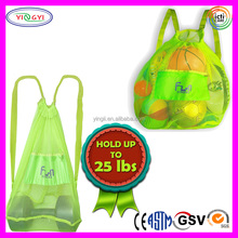 B440 Durable and Secure Tote Premium Mesh Beach Bag Backpack Transparent Drawstring Beach Backpack
