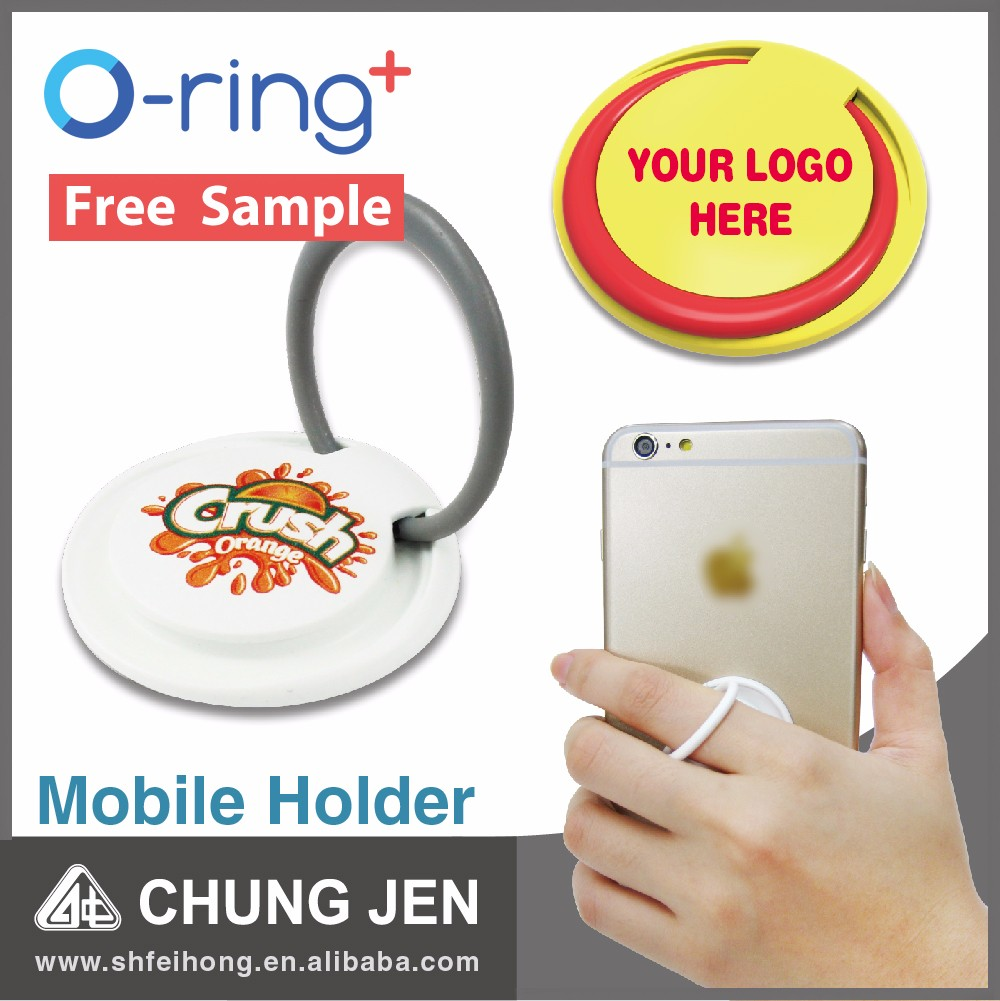 O-ring+ cheap Custom Logo printed plastic smart phone ring holder