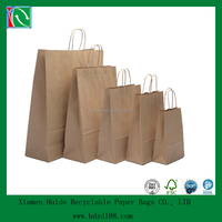 2015 customized recycled kraft paper shopping bag