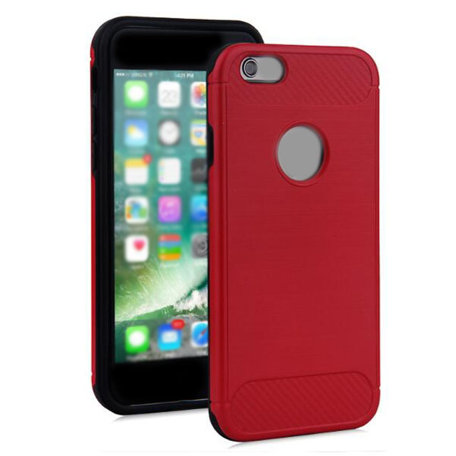 2 In 1 Shenzhen Black Red Hybrid Cases For App7 8 Phone Case Cover