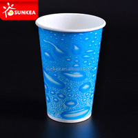 Paper frozen drink glass cups
