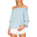 Wholesale Off The Shoulder Latest Designs Clothing Bluses For Women
