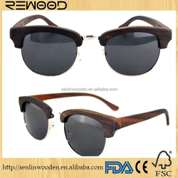 2015 Wood half Frame Glasses Fashionable Wood Optical Frames
