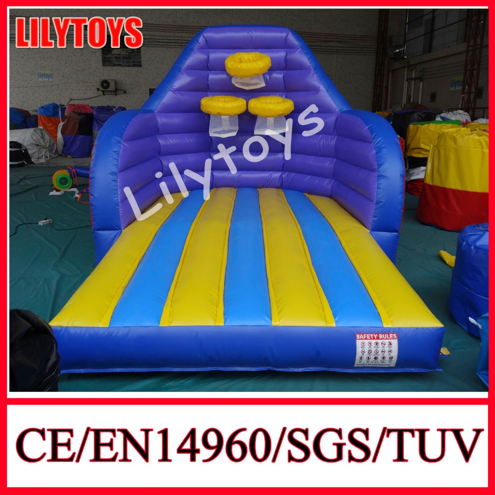 Lilytoys Inflatable basketball field/soccer arena for kids and adults
