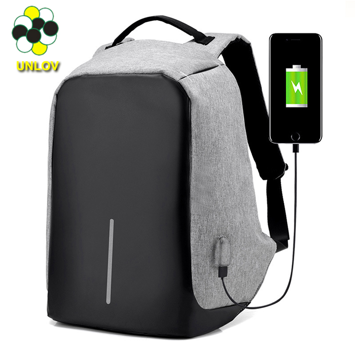 2017 New Design USB charger anti theft backpack travelling security waterproof Laptop backpack