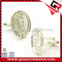 Promotional Cheapest plain silver cufflinks