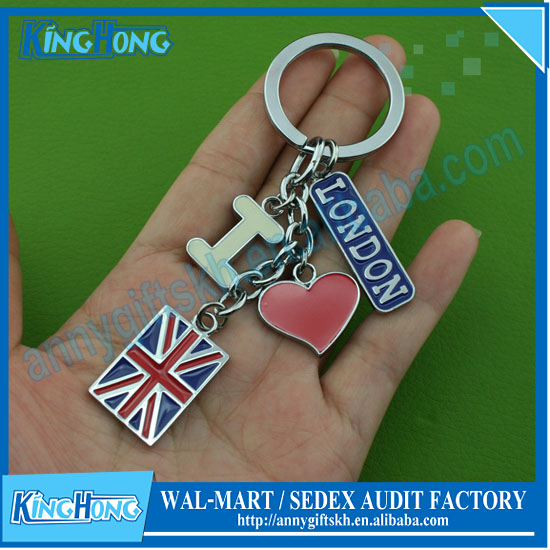 London style souvenirs, the British flag metal key chain
