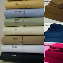 100% Egyptian cotton bed sheet/400TC bed sheet set