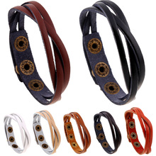 NB-157 Simple Style Leather Bracelet Wholesale