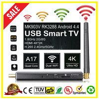 Wholesale MK903V Mini TV based on Android OS RK3288 4.4 HTV Box Stick Quad 1.8GHz 8G XBMC 4K*2K H.265 Dual WiFi OTG USB Smart