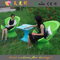 garden chaise lounge/plastic garden chair/colorful outdoor furniture