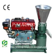 Small type diesel engine wood pellet press with 5% discount