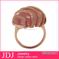 Fashion American 925 Style Wedding Ring Jewelry With Rose Gold Plating