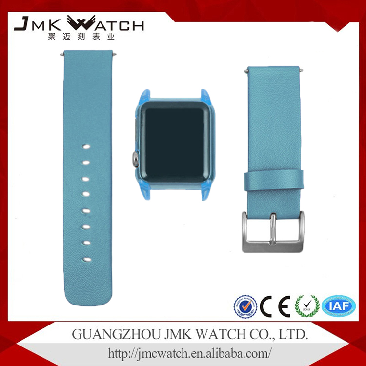 Top selling products multi colors PU leather watch strap for apple watch band leather with watch plastic cover