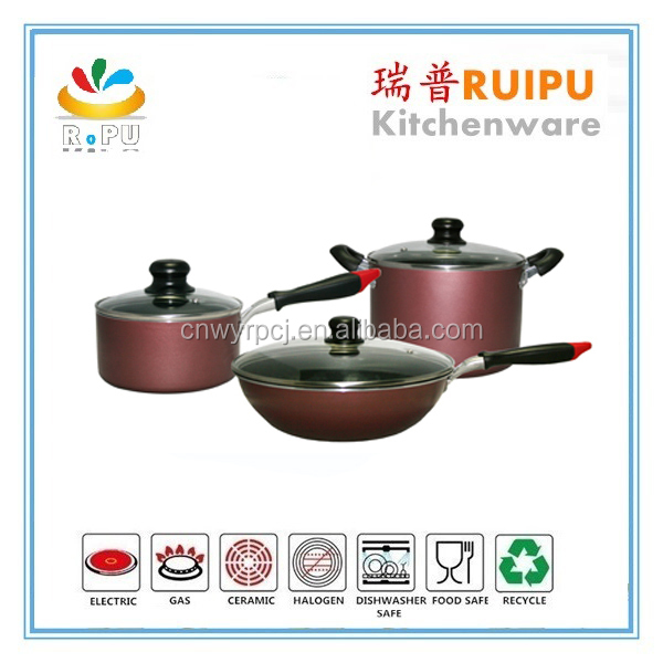 Wholesale china import indian cookware nonstick cookware brands stoneware cookware