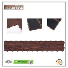 2017 new style LVT laminate floor SPC Flooring with PPR click frame