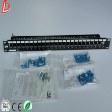 RJ45 cat6 utp modular 24 ports 3M patch panel, VOL-PPCB-F24K 3M 24 Port Patch Panel