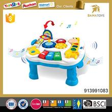 Free shipping Musical kids learning table with light