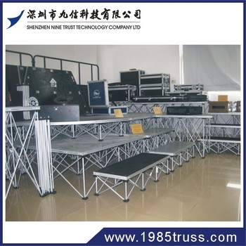 1.22x1.22m Aluminum Frame Wedding Stage Materials for Portable Stage Platform