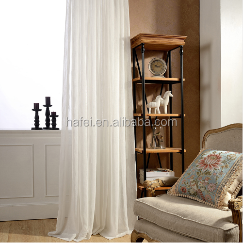 white color jacquard curtain stripe pattern design tulle sheer window curtain