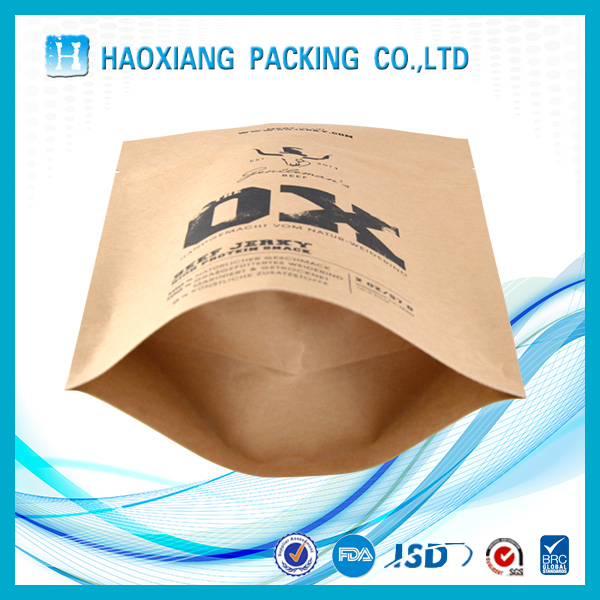 Dried beef /food packaging bag with tear mouth and kraft paper