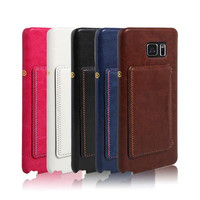 High Quality Cheaper Price phone Leather Case For Samsung Note 5 with Credit Card Slot