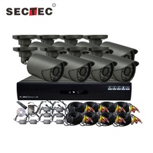 2016 The Hottest CCTV 8CH AHD Kit 4pcs Indoor + 4 pcs Outdoor CCTV Kit 8 Channel H 264 DIY Your Interested DVR