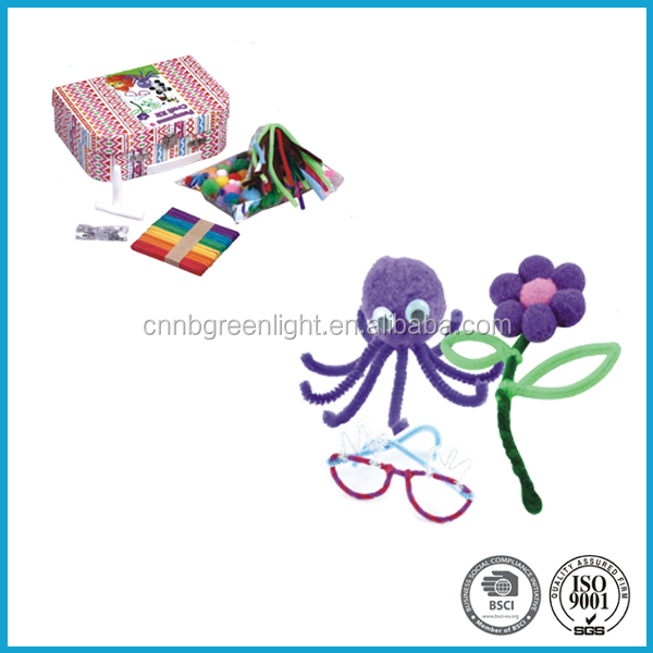 DIY POMPOMS crafts kit for kids