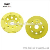 PCD cup wheel for epoxy, mastic, coating removal for concrete floors