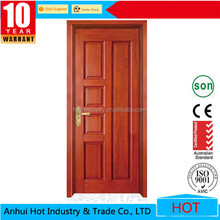 China factory safety wooden door design/single wooden door design/wood panel door design