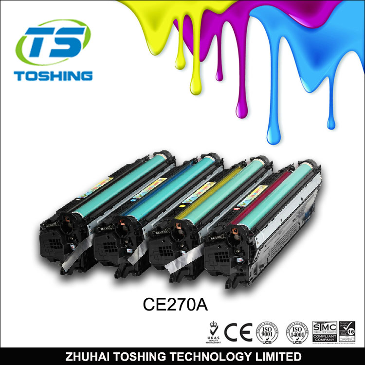 High quality CE270A Color Toner Cartridge Compatible for HP Toner 650A
