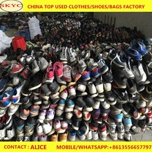 Guangzhou factory wholesale classic safety second hand working shoes cream mixed used shoes for sale in south Africa