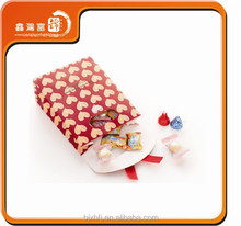wholesale customized fashion small paper bags wedding sweets gift bag