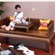 Eco friendly Hand Carved Mahogany Solid Wooden Sofa Cum Bed Designs On Sale