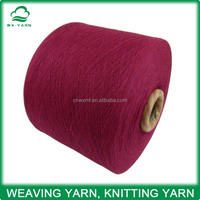 Ne18s recycled cotton polyester blended dyed knitting yarn