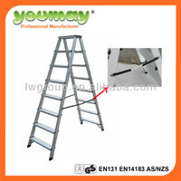 EN131 Aluminum double sided ladder/step ladder/aluminum folding step/specal ladder,AD0408A