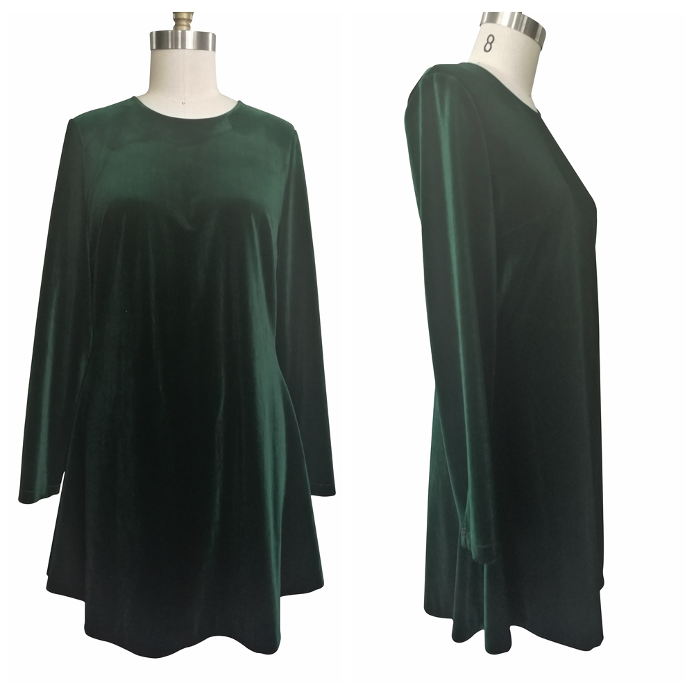 Conventional loose big size oversized backless long sleeve dress