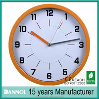 Customized face company logo clock corporate anniversary gift/ostar f333